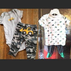 2 Carters outfits size 6M